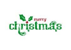 Kerstmis logotype met weg Royalty-vrije Stock Foto's