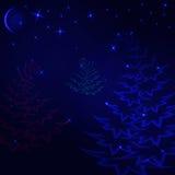 Kerstmis magisch bos Stock Afbeelding