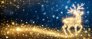 Kerstmis Magische Herten Stock Afbeeldingen