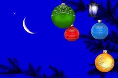 Kerstmis magische nacht Stock Afbeelding