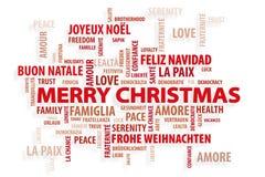 Kerstmis. Magische Woorden Stock Fotografie