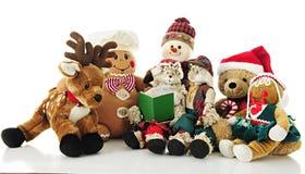 Kerstmis Managerie stock afbeeldingen