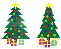 Kerstmis met 8 bits Stock Foto