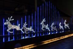 Kerstmis met herten wordt verfraaid dat Stock Fotografie