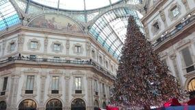 Kerstmis in Milaan Stock Foto
