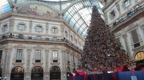 Kerstmis in Milaan, Italië Royalty-vrije Stock Afbeeldingen