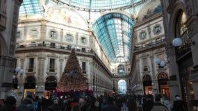 Kerstmis in Milaan, Italië Stock Afbeeldingen