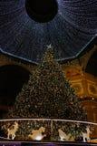 Kerstmis 2018 Milan Galleria Vittorio Emanuele II Swarovski-boom royalty-vrije stock foto