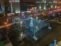 Kerstmis Minsk, Wit-Rusland royalty-vrije stock foto