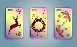 Kerstmis Mobiele Gevallen Stock Foto's