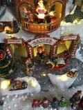 Kerstmis modeldorp Stock Afbeeldingen