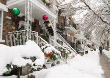 Kerstmis in Montreal Stock Foto's