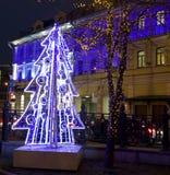 Kerstmis in Moskou Royalty-vrije Stock Afbeeldingen