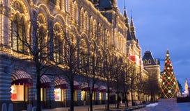 Kerstmis Moskou Royalty-vrije Stock Afbeeldingen