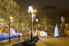 Kerstmis Moskou Stock Afbeelding