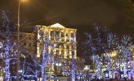 Kerstmis Moskou Stock Afbeeldingen