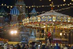 Kerstmis in Moskou Royalty-vrije Stock Foto's