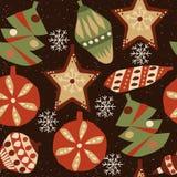 Kerstmis naadloos patroon 3 royalty-vrije illustratie
