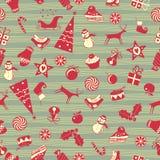Kerstmis Naadloos Patroon Stock Foto