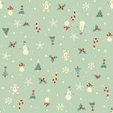 Kerstmis naadloos patroon Stock Afbeeldingen