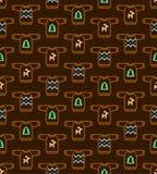 Kerstmis naadloos patroon - Lelijke sweaters Royalty-vrije Stock Afbeeldingen