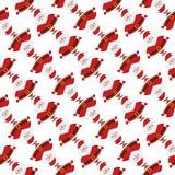 Kerstmis naadloos patroon met grappige Santa Claus vector illustratie