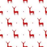 Kerstmis naadloos patroon met herten Stock Foto's