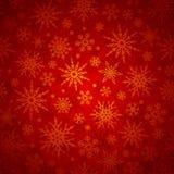 Kerstmis naadloze achtergrond met sneeuwvlokken Vector illustratie Stock Fotografie
