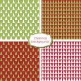 Kerstmis naadloze achtergronden Royalty-vrije Stock Afbeelding