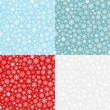Kerstmis naadloze patronen van sneeuwvlokken Royalty-vrije Stock Afbeelding