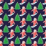 Kerstmis naadloze pattern8 royalty-vrije stock afbeelding