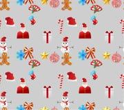 Kerstmis naadloze pensionair Stock Afbeelding