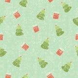 Kerstmis naadloze sjofele achtergrond Royalty-vrije Stock Afbeelding