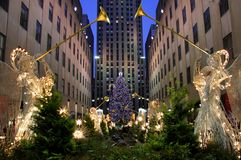Kerstmis in New York Stock Foto