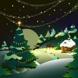 Kerstmis, nieuw jaar, achtergrond Stock Foto