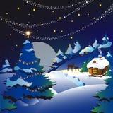 Kerstmis, nieuw jaar, achtergrond Stock Afbeeldingen