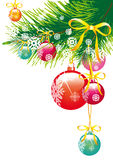 Kerstmis, nieuw jaar, achtergrondvector Royalty-vrije Stock Foto