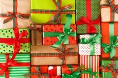 Kerstmis, nieuw jaar en andere vakantiedozen Gewas, close-up Stock Fotografie