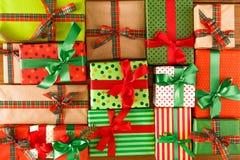 Kerstmis, nieuw jaar en andere vakantiedozen Gewas, close-up Royalty-vrije Stock Afbeeldingen