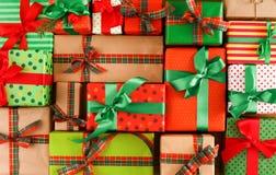 Kerstmis, nieuw jaar en andere vakantiedozen Gewas, close-up Royalty-vrije Stock Foto's