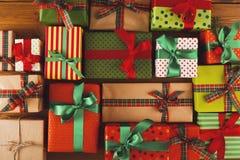 Kerstmis, nieuw jaar en andere vakantiedozen Gewas, close-up Royalty-vrije Stock Foto