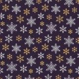 Kerstmis, nieuw jaar naadloos patroon, de illustratie van de sneeuwvlokkenlijn Vectorpictogrammen van de wintervakantie, koude se stock illustratie