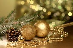 Kerstmis nieuwe jaren Royalty-vrije Stock Foto's