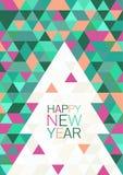 Kerstmis of Nieuwjaar abstracte geometrische achtergrond Ca van de groet Stock Afbeeldingen