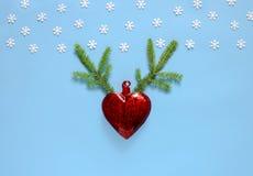 Kerstmis of Nieuwjaar de kaartconcept van de vakantiegroet Stock Afbeelding