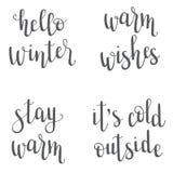 Kerstmis/Nieuwjaar/de winter het van letters voorzien Stock Fotografie
