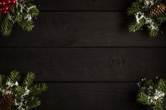 Kerstmis of Nieuwjaar feestelijke kaart Hoogste mening royalty-vrije stock fotografie