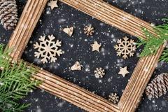 Kerstmis of Nieuwjaar feestelijke kaart Vakantiesamenstelling royalty-vrije stock foto
