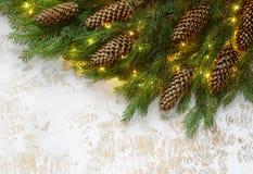 Kerstmis of Nieuwjaar het concept van de groetkaart Stock Foto