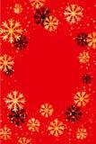 Kerstmis of Nieuwjaarachtergrond met gouden sneeuwvlokken Abstracte Illustratie Gemakkelijk modern malplaatje Stock Foto